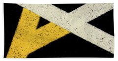 Beach Towel featuring the photograph Traffic Line Conversion 2 by Gary Slawsky