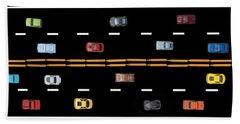 Beach Towel featuring the photograph Traffic - Panorama by Nikolyn McDonald