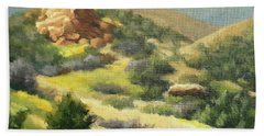 Trails Of Vasquez Canyon Beach Towel