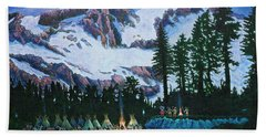Beach Towel featuring the painting Trails West II by Michael Frank