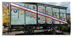 Train De La Reconnaissance Francaise - Ogden - Utah Beach Towel by Gary Whitton