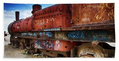 Train Graveyard Uyuni Bolivia 18 Beach Sheet