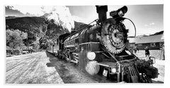 Train Nin Silverton Colorado Beach Sheet