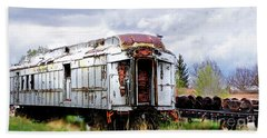 Train Tootoot Beach Sheet