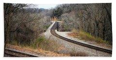 Train Tracks Across The New River - Radford Virginia Beach Sheet