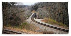 Train Tracks Across The New River - Radford Virginia Beach Towel