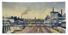 Train Tracks Maastricht Beach Towel