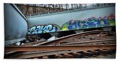 Train Twisted Metal  Beach Towel