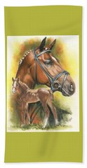 Beach Sheet featuring the mixed media Trakehner by Barbara Keith