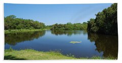 Beach Sheet featuring the photograph Tranquil Lake by Gary Wonning