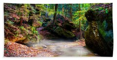 Beach Towel featuring the photograph Tranquil Mist by David Morefield