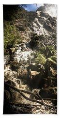 Tranquil Mountain Canyon Beach Towel