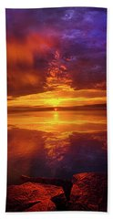 Tranquil Oasis Beach Towel by Phil Koch