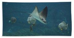 Tranquil Sea Creatures Beach Towel