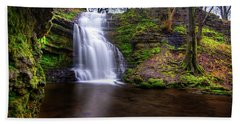 Tranquil Slow Soft Waterfall Beach Towel
