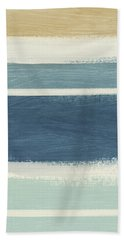 Tranquil Stripes- Art By Linda Woods Beach Towel