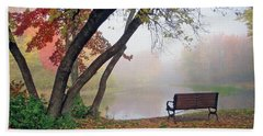 Beach Towel featuring the photograph Tranquil View by Betsy Zimmerli