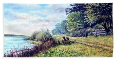 Beach Sheet featuring the painting Tranquility by Heidi Kriel