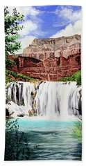 Tranquility In The Canyon Beach Towel