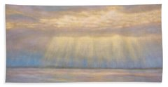 Beach Towel featuring the painting Tranquility by Joe Bergholm