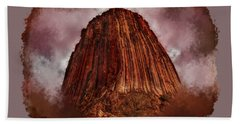 Transcendent Devils Tower 2 Beach Towel