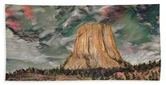 Transcendental Devils Tower Beach Towel