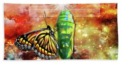 Beach Towel featuring the digital art Transformed By The Truth by Dolores Develde
