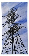 Transmission Tower No. 1 Beach Towel by Sandy Taylor