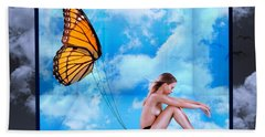 Trapped Butterfly Beach Towel