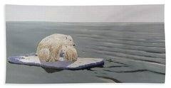 Beach Towel featuring the painting Stranded by Kevin Daly
