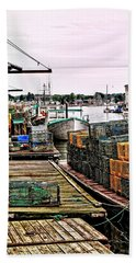 Traps Portland Maine Beach Towel