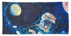 We Loved Earth At One Time - Yes We Did. Beach Towel