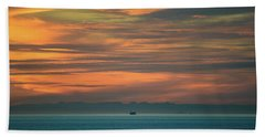 Traveling Between Here And There Beach Towel by Ronda Broatch