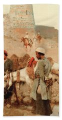 Traveling In Persia Beach Sheet by Edwin Lord Weeks