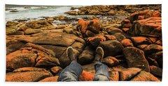 Travelling West Coast Tasmania Beach Towel