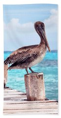Treasure Coast Pelican Pier Seascape C1 Beach Towel