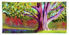 Tree At Hill-stead Museum Beach Towel by Polly Castor