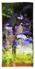 Tree Avenue Lavender Lilac Green Beach Sheet