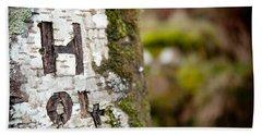 Tree Bark Graffiti - H 04 Beach Towel