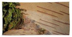 Tree Bark With Lichen Beach Sheet by Margaret Brooks