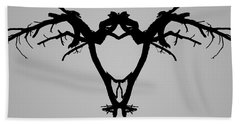 Tree Bird I Bw Beach Towel