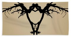 Tree Bird Toned Beach Towel