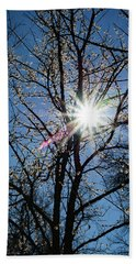Tree Buds Beach Towel