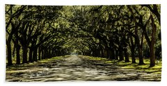 Tree Covered Approach Beach Towel