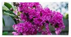 Crepe Myrtle Flower Beach Towel