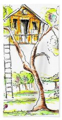 Tree House  Beach Towel