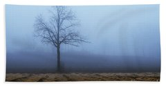 Tree In Fog 9954 Beach Towel