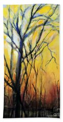 Beach Towel featuring the painting Tree In Thicket by Jodie Marie Anne Richardson Traugott          aka jm-ART