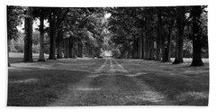 Tree-lined Carriageway Beach Towel