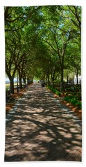 Tree Lined Path Beach Towel